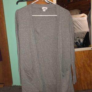 Old navy light gray cardigan